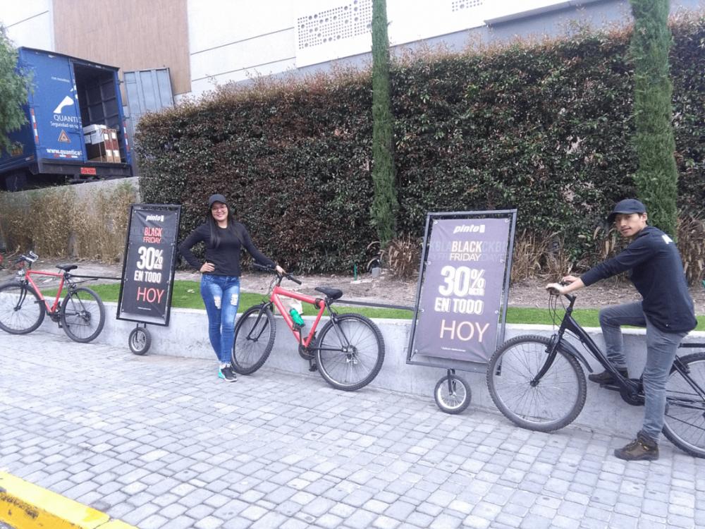 Bicicletas publicitarias campaña tiendas pinto quito3