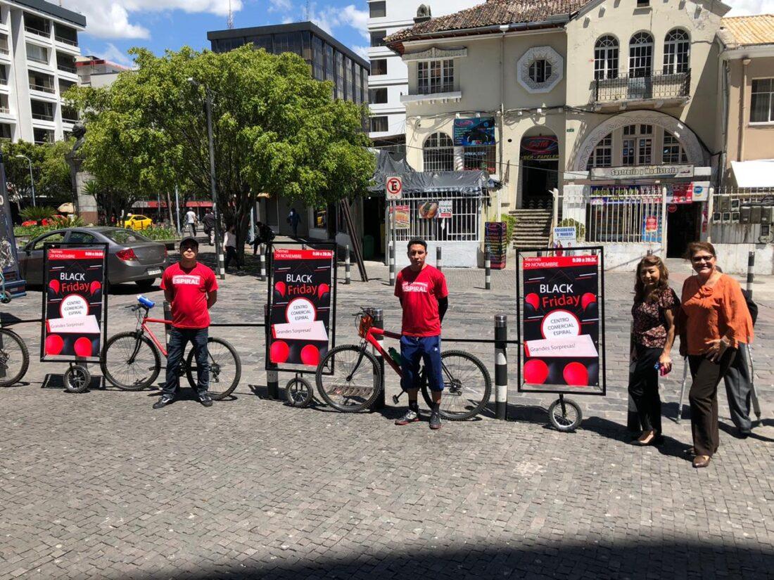 Campaña de publicidad móvil Centro Comercial Espiral Quito