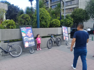 publicidad movil quito ecuador para centro comercial espiral con bicicletas publicitarias