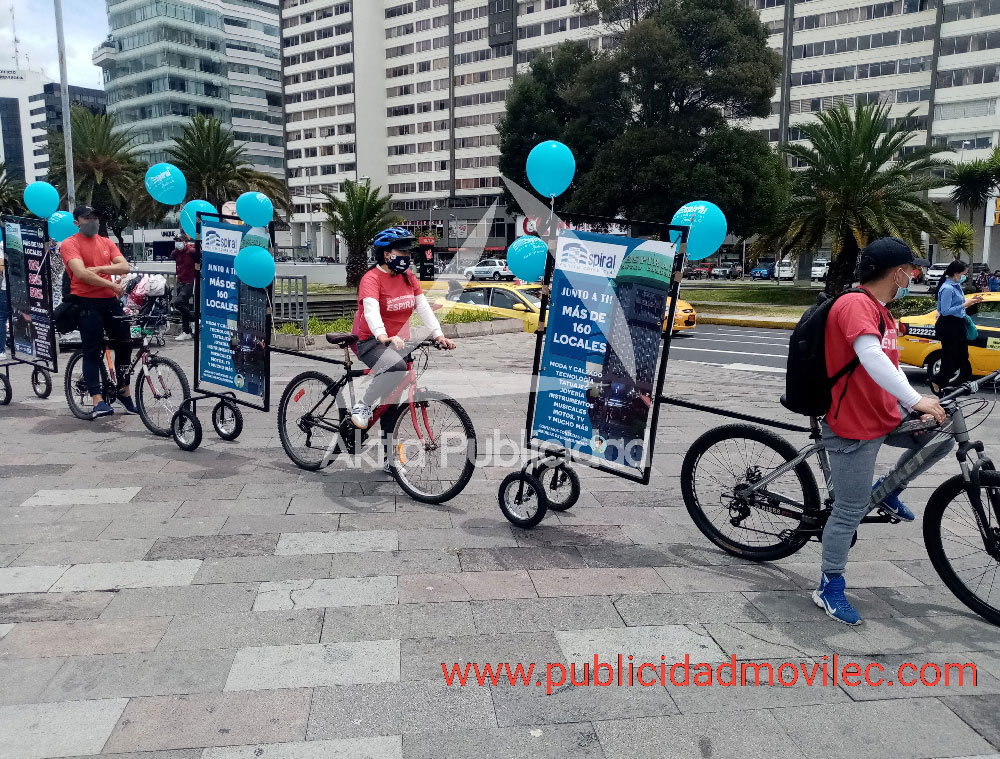 Centro Comercial Espiral en campaña verde, Publicidad móvil que no contamina